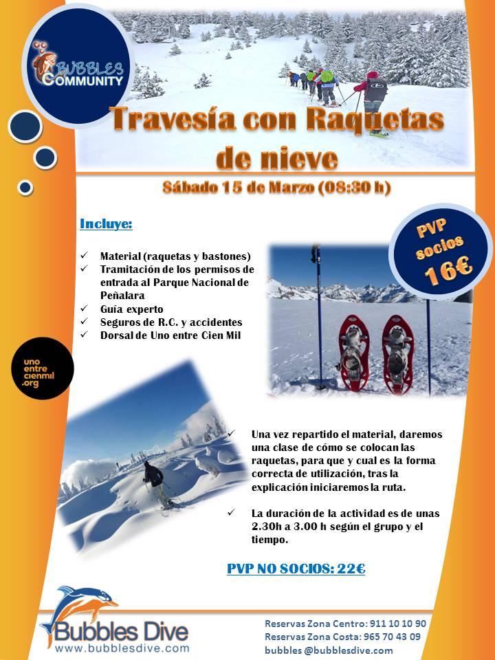 Travesia con Raquetas de Nieve