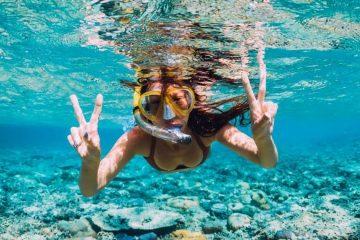 Conoce el fondo marino buceando con snorkel.